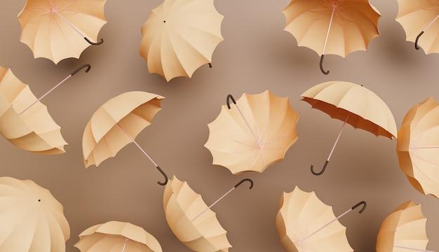 Beige regenschirme
