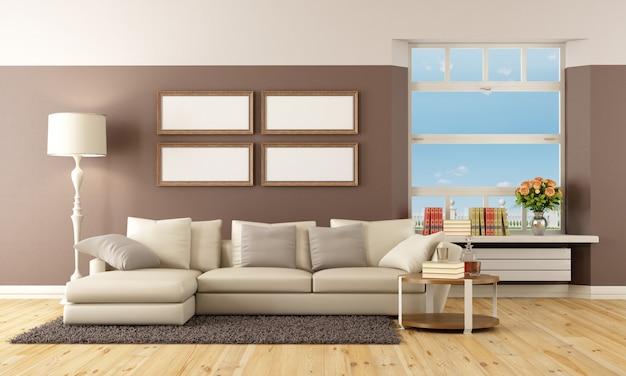 Beige und braune lounge