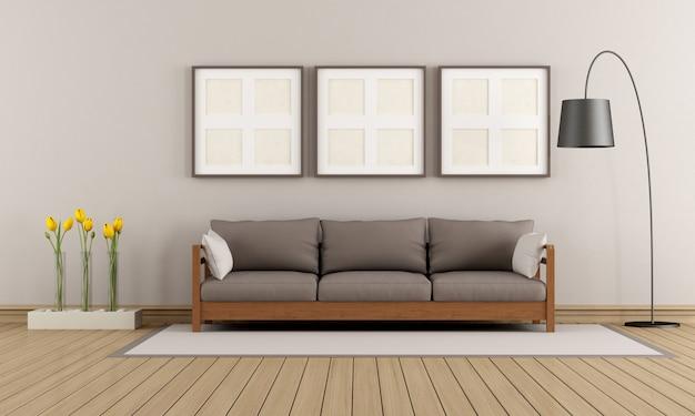 Beige und braune moderne lounge
