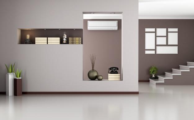 Beige und braunes modernes interieur