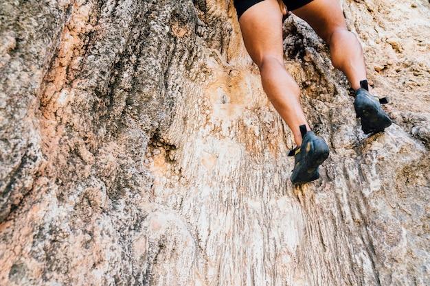 Beine von bergsteiger