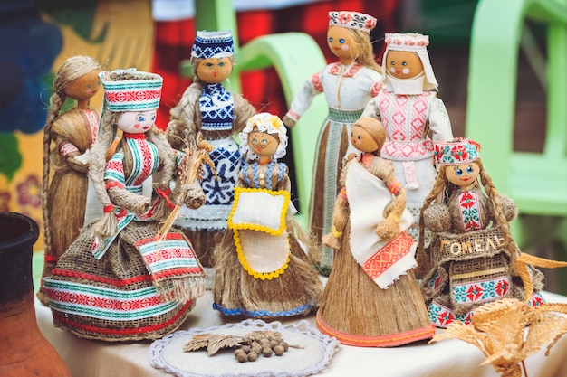 Belarussische nationale stoffpuppenandenken