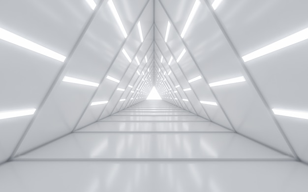 Beleuchteter flurinnenraum