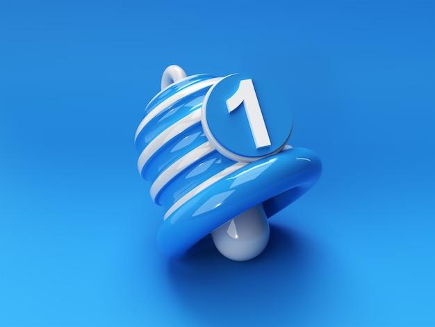 Benachrichtigung - minimale nachricht glockensymbol warnung und alarm social media element. 3d-rendering.