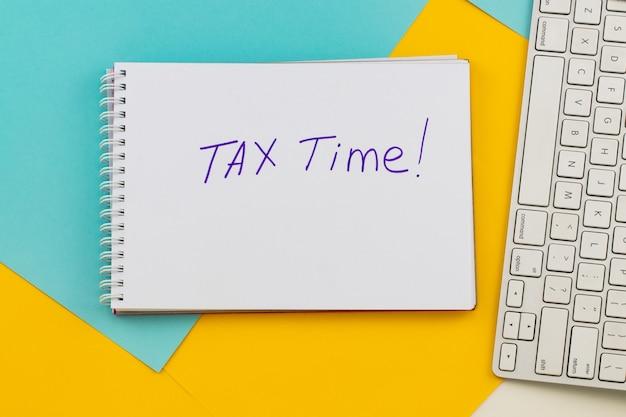 Benachrichtigung über die notwendigkeit der abgabe von steuererklärungen, steuerformular