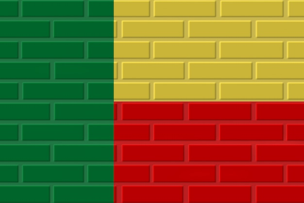 Benin ziegel flagge illustration