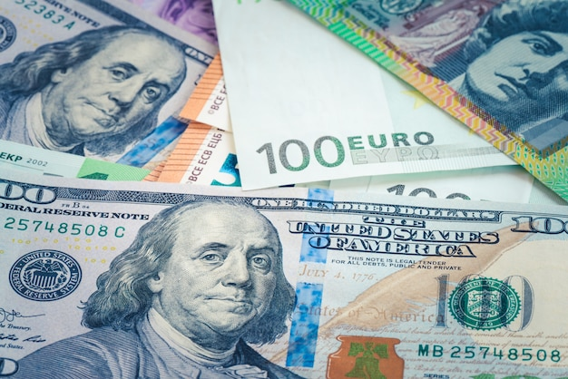 Benjamin franklin über hundert dollarschein