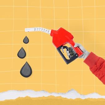Benzinpumpe hand biodiesel nachhaltige umwelt remix