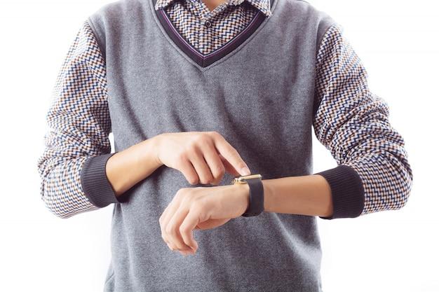 Beobachten kommunikation touchscreen tragbar halten
