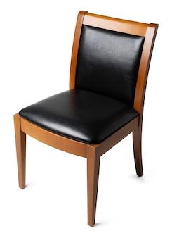 Bequemer stuhl lokalisiert auf weißem hintergrund. studioaufnahme