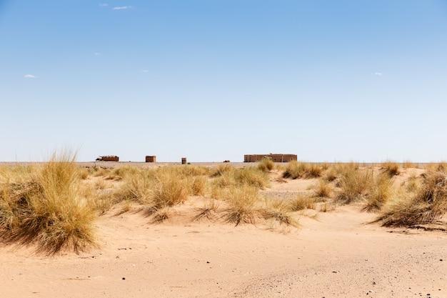 Berberhaus in der sahara-wüste