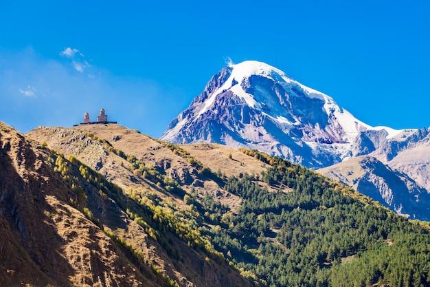 Berg kasbek, georgien