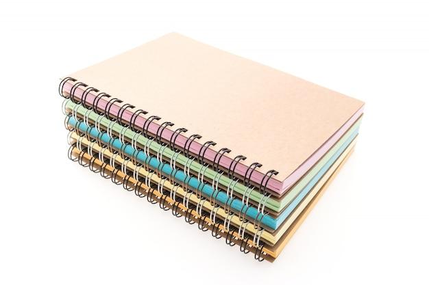 Berg von notebooks