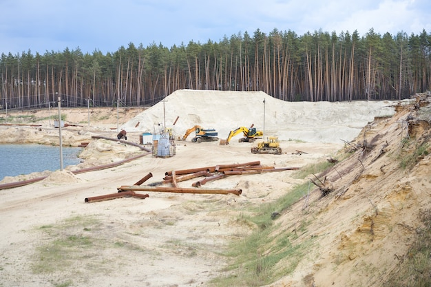 Bergbau im sandsteinbruch