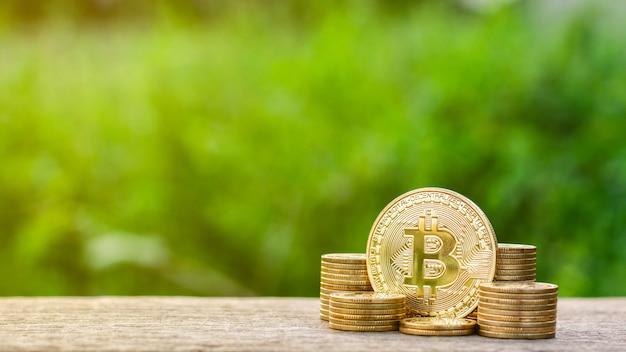 Bergbau von goldenen bitcoins