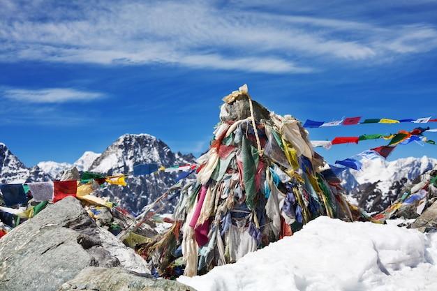 Berge in sagarmatha region, himalaya