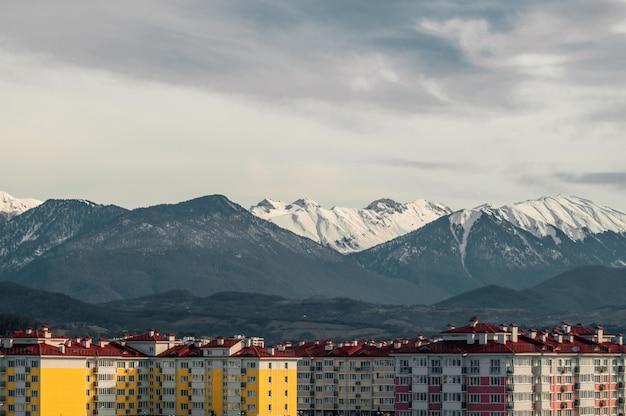 Berge winterschnee