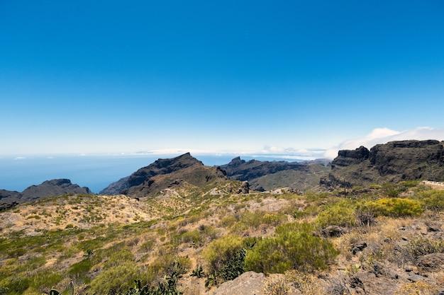 Berglandschaft auf der insel teneriffa