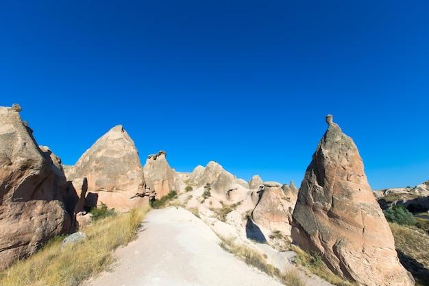 Berglandschaft. kappadokien, anatolien, türkei.