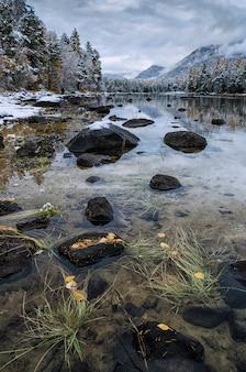 Bergsee, russland, sibirien, buryatiya, froliha.
