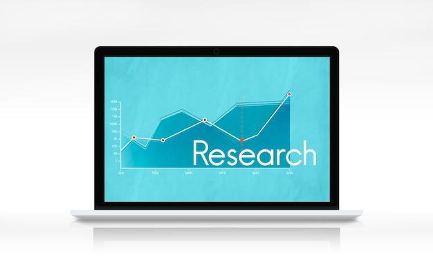 Bericht über das liniendiagramm des unternehmensgeschäfts