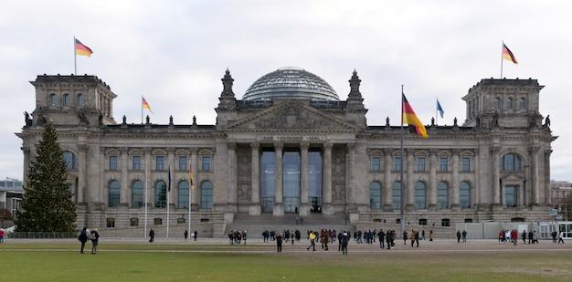 Berlin, deutschland reichstag gebäudepanorama