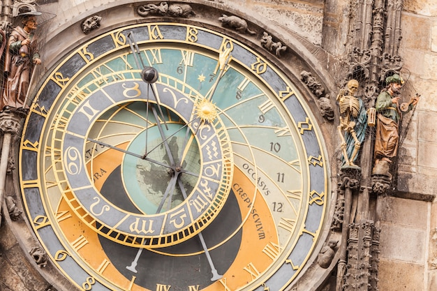 Berühmte astronomische uhr in prag