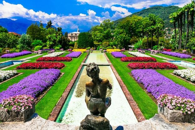 Berühmte botanische gärten der villa taranto im lago maggiore see. italien