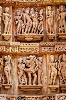 Berühmte erotische steinskulpturen von khajuraho