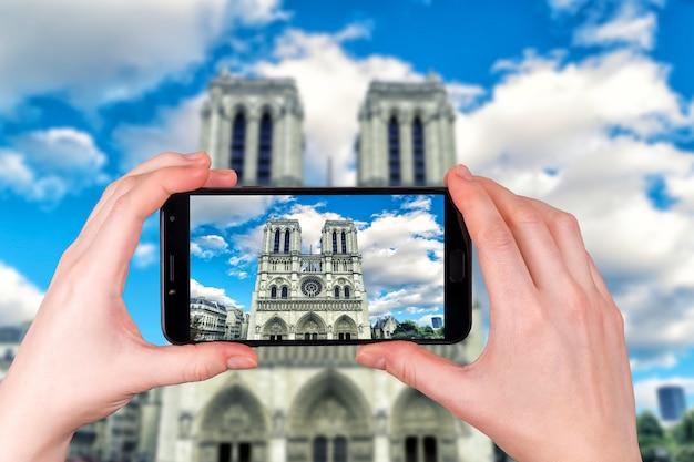 Berühmte kathedrale notre dame in paris frankreich