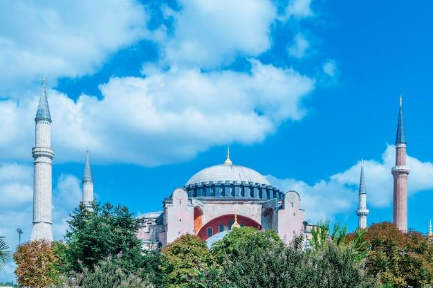 Berühmte moschee in der türkischen stadt von istanbul