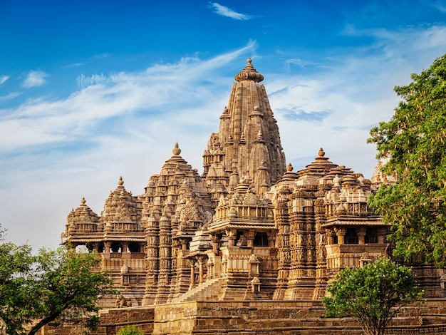 Berühmte tempel von khajuraho