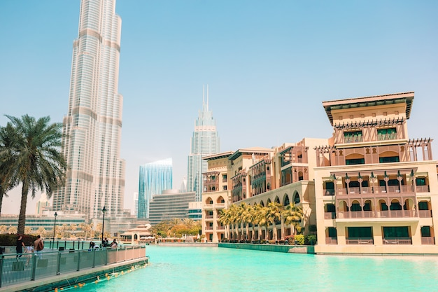 Berühmter anblick in dubai, vereinigte arabische emirate
