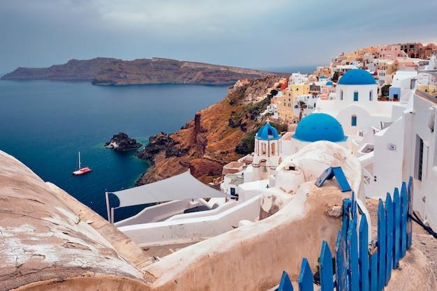 Berühmtes griechisches touristenziel oia, griechenland