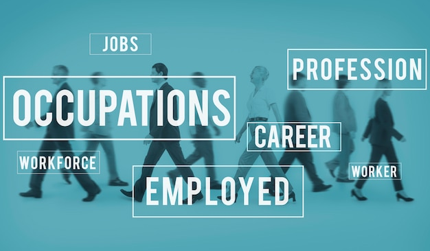 Beruf-karriere-beschäftigungs-einstellungs-positions-konzept