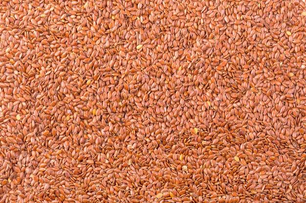 Beschaffenheit des gebratenen braunen leinsamens oder des leinsamens