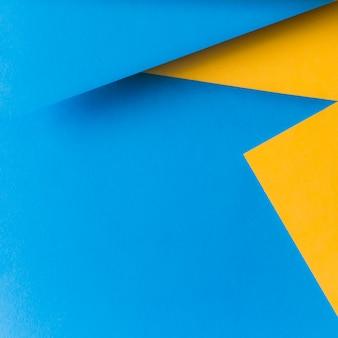 Beschaffenheit des gelben und blauen Papiers für Hintergrund