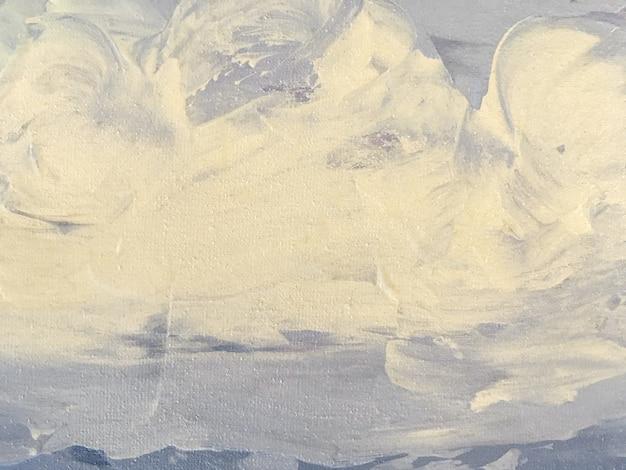 Beschaffenheit des malens der hellblauen und weißen farbe des hintergrundes der abstrakten kunst.