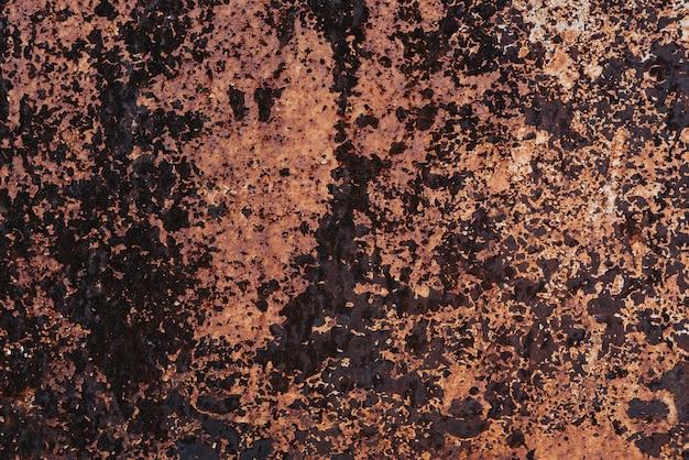 Beschaffenheit des rostigen alten metalls mit korrosion. schmutziger eisenhintergrund der schmutzart