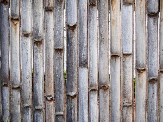 Beschaffenheit des zauns gemacht vom bambus