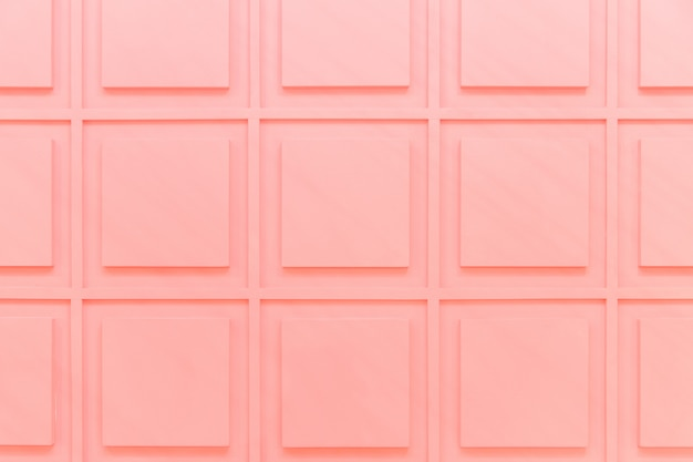 Beschaffenheit von rosa quadraten an der wand. detail des innenraums