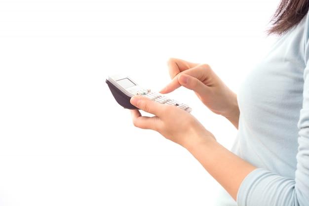 Besetzung drücken elektronischen fingernagel berühren