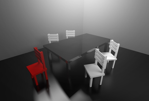 Besprechungszimmer-geschäftspartnerschafts-vereinbarungskonzept der übertragung 3d.