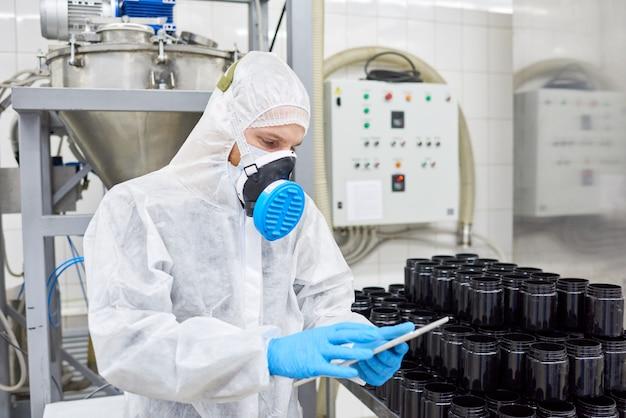 Bestandsaufnahme in der pharmazeutischen fabrik