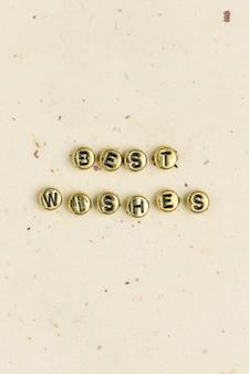 Beste wünsche perlen worttypografie