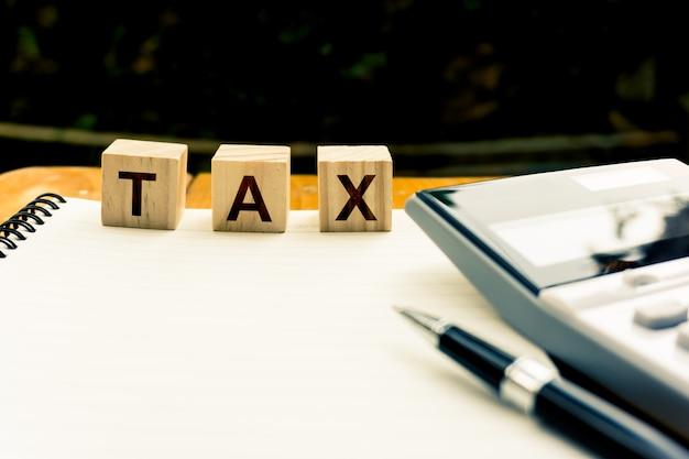 Besteuerung und jährliches steuerkonzept.