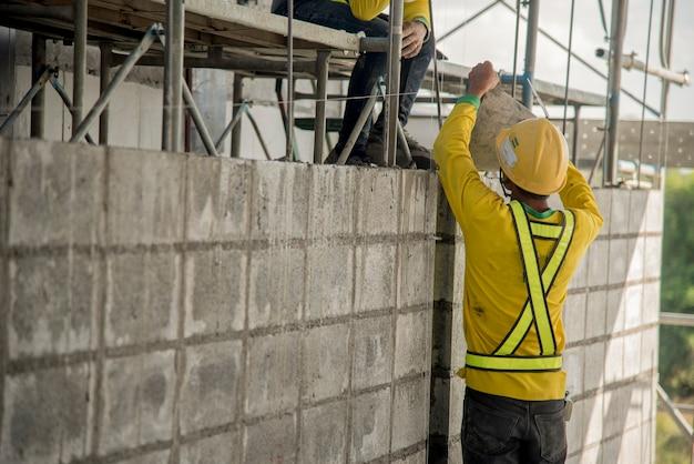 Betonblockwand für baustelle baustelle