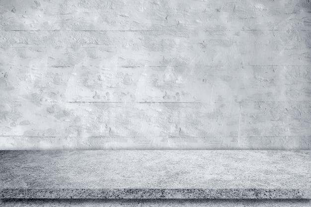 Betonwand hintergrundszene dunkler leerer raum mit zementboden mit platz für text oder bild