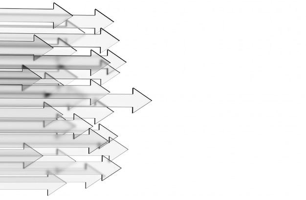 Betriebswirtschaftlicher hintergrund mit glaspfeilen