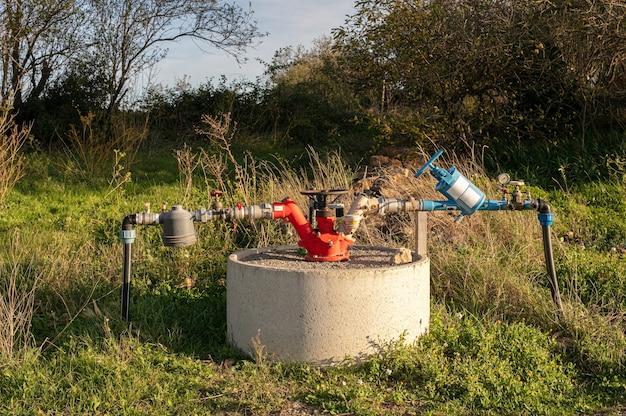 Bewässerungshahnsystem für felder
